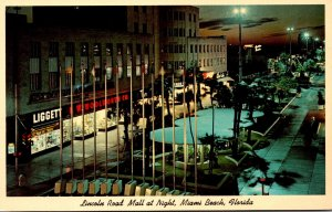 Florida Miami Beach Lincoln Road Mall At Night