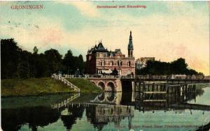 CPA GRONINGEN Eemskanaal met Emmabrug NETHERLANDS (604283)