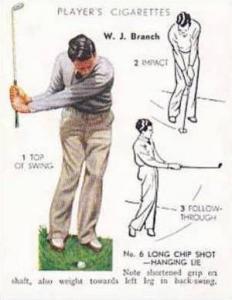 Player Vintage Cigarette Card Golf 1939 No 5 No 6 Long Chip Shot Hanging Lie ...