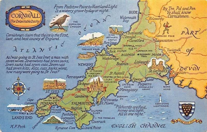 England Map with Coat of arms Overview map Devon on