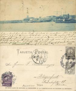 paraguay, ASUNCION, Harbour Scene, Steamers, Palacio de los López (1901) Stamps