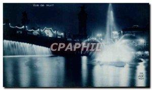 Old Postcard International Exhibition of Arts Decoratifs Paris 1925 Night View