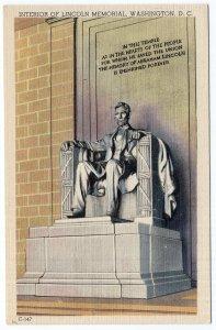 Washington, D.C., Interior Of Lincoln Memorial