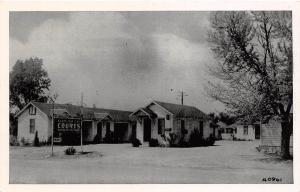 C49/ Henryetta Oklahoma Ok Postcard c1940s Roadside Ellis Down Town Courts