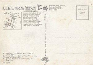 GEELONG, Victoria, Australia, 50-70s; Buena Vista Motor Inn, 4-views