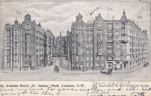 St. Ermins Hotel, St. James Park , London, S.W. , England , PU-1908