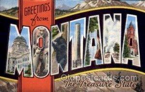 Montana Large Letter State Unused