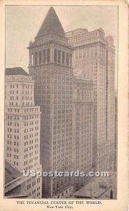 Financial Center of the World New York City NY Unused