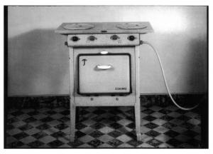 Postcard, Eskimo Gas Cooker, in Baulmes, Switzerland 1938 BW1