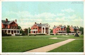 Virginia Fort Monroe Officers Quarters Detroit Publishing
