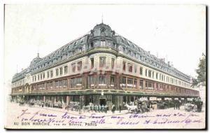 Postcard Old Au Bon Marche Rue de Sevres Paris