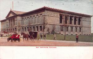 Art Institute, Chicago, Illinois, Early Postcard, Used in 1918