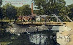 Bridge Below Water Works in Charlotte, Michigan