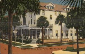 Eustis FL Grand View Hotel Linen Postcard