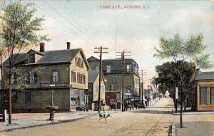 Auburn Rhode Island Park Ave Street Scene Antique Postcard K12538