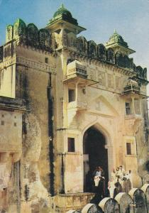 Postal 61546 : Chandpole Gate - Amber. The gate facing the moon Jaipur India