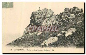 Old Postcard Locquirec Rock of the Raven Point
