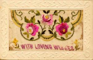 Embroidered Silk with Flap (Message Pocket) - With Loving Wishes