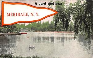 Quiet Spot Meridale, New York Postcard