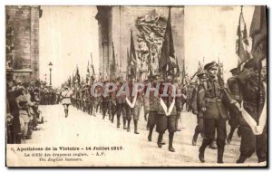 Old Postcard Apotheosis of Victory Defile The British Army Flags July 14, 1919