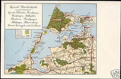 germany, Wanderkarte Fischland-Darss-Zingst, MAP pc 10s