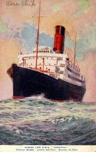 Cunard Line - RMS Carinthia. Artist: Rosenvinge