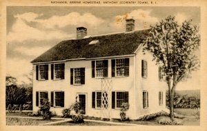 RI - Anthony (Coventry Town). Nathanial Greene Homestead