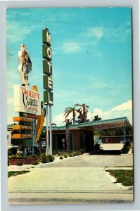 Tampa FL-Florida, Thrift Court Motel, Chrome c1967 Postcard