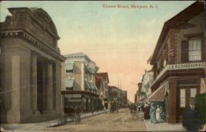 Newport RI Thame Street c1910 Postcard