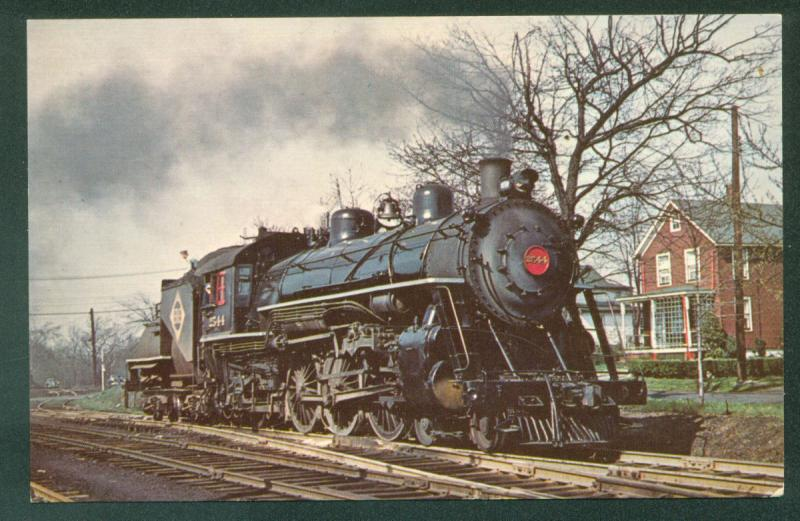 Erie Class  K1 Pacific Steam Engine Spring Valley New York NY Railroad Postcard
