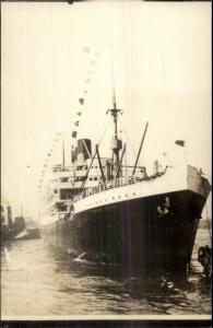 Steamship SS President Arthur 1950s Real Photo Postcard From Earlier Image