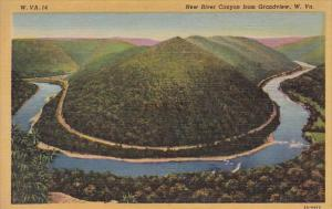 New River Canyon From Grandview West Virginia