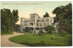 Poughkeepsie NY Pringle Home for Aged Literary Men Postcard