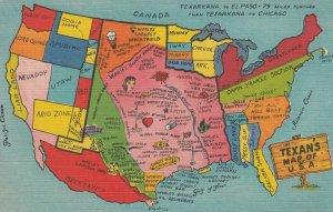Texan's Map of USA , 1930-40s : #2