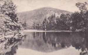 North Carolina Cashiers Upper Lake Rock Mountain In The Background High Hampt...