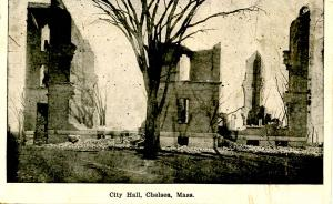 MA - Chelsea, 1908. City Hall after Fire