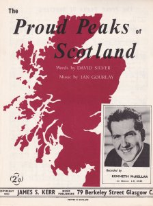 The Proud Peaks Of Scotland Rare Scottish Kenneth McKellar Sheet Music