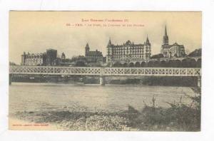 Le Pont, Le Chateau Et Les Hotels, Pau (Pyrénées-Atlantiques), France, 1900...