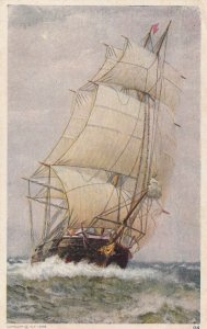 Sailing Vessel out on rough waters, 1900-10s