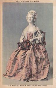 Washington D C Dress Of Martha Washington U S National Museum Curteich