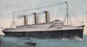 Oceanliner/Steamer/Ship, S. S. Imperator, Hamburg American Line, Largest In The