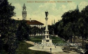 Soldiers Monument & Common - Worcester, Massachusetts MA