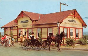G25/ Strasburg Pennsylvania Postcard Chrome Railroad Depot Shop