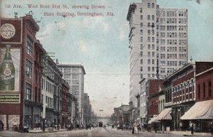 BIRMINGHAM , Alabama , 1909 ; 1st Avenue , West from 21st street