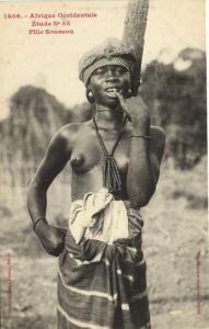 CPA Senegal Ethnic Nude Fortier - 1406. Étude N 85 Fille Soussou (70879)