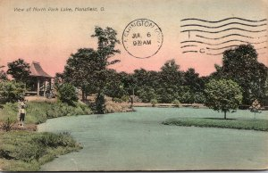 Ohio Mansfield View Of North Park Lake 1911