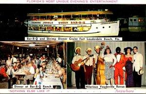 Florida Fort Lauderdale Jungle Queen II Bar-B-Q and Shrimp Dinner Cruise