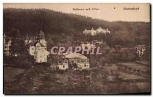 Old Postcard Bellevue Marienbad und Villen