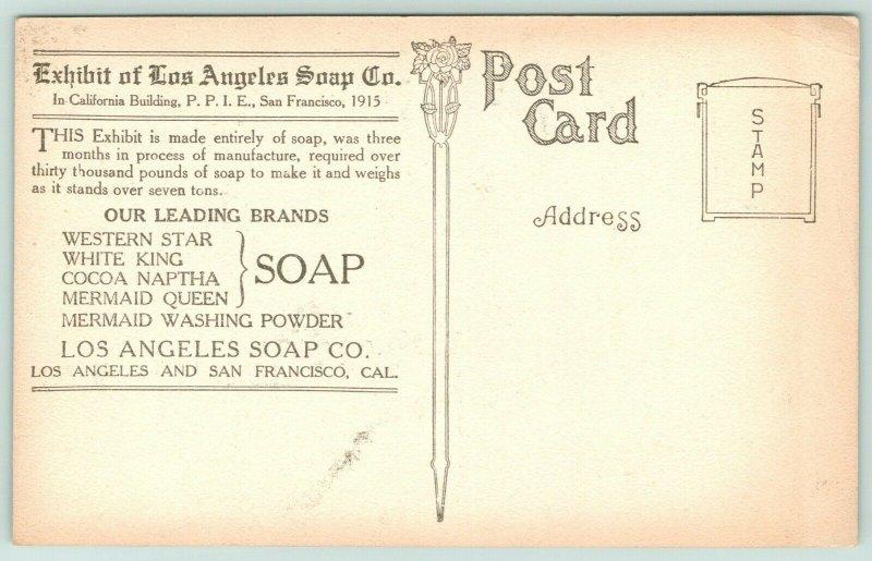 Los Angeles California~PPIE~California Building~Los Angeles Soap Co Exhibit~1915