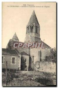 Old Postcard Charente Apse The Crown and Romanesque bell tower of the Church